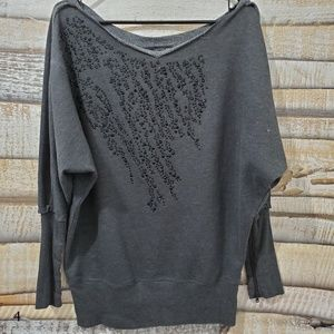 Calvin Klein Jeans Dark Grey Beaded Sweatshirt